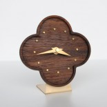 table clock-teak