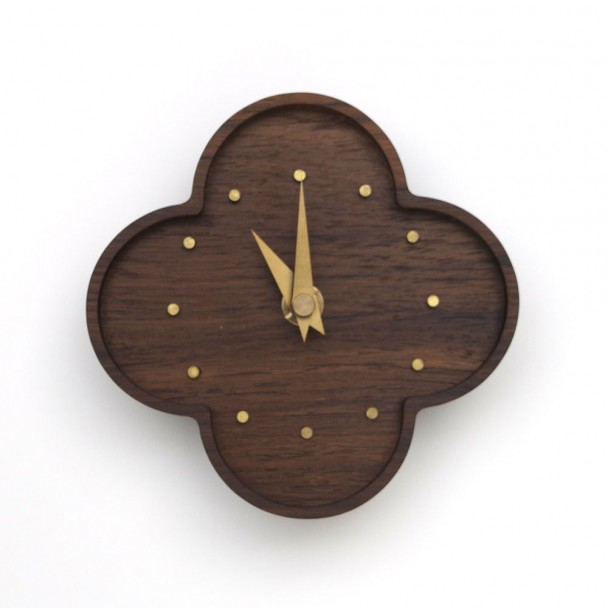 wall clock-teak
