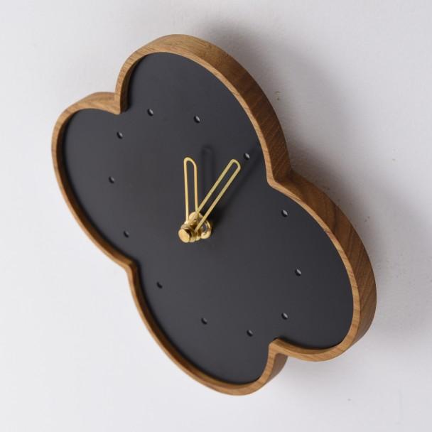 wall clock L-teak-b